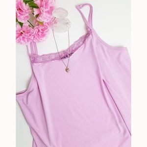 Lane Bryant Pink Lace Beaded Cami - Size 22/24
